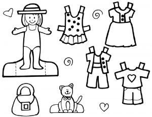 одежда для детей картинки раскраски крупные (19)