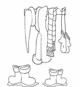 одежда для детей картинки раскраски крупные (2)