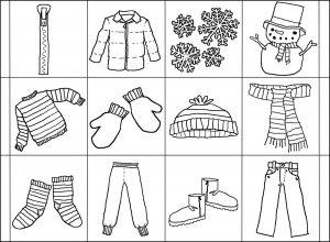 одежда для детей картинки раскраски крупные (20)