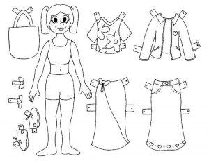 одежда для детей картинки раскраски крупные (23)