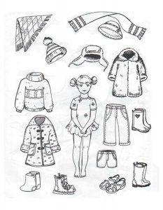 одежда для детей картинки раскраски крупные (25)