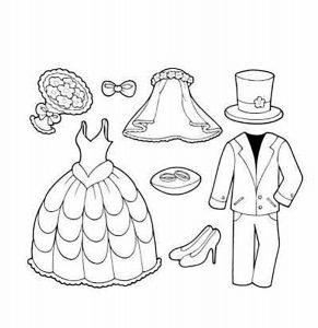одежда для детей картинки раскраски крупные (3)