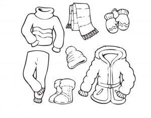 одежда для детей картинки раскраски крупные (32)