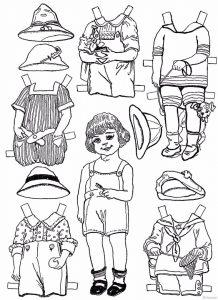 одежда для детей картинки раскраски крупные (34)
