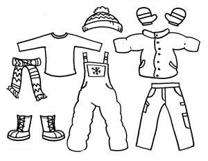 одежда для детей картинки раскраски крупные (36)