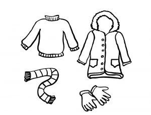 одежда для детей картинки раскраски крупные (37)