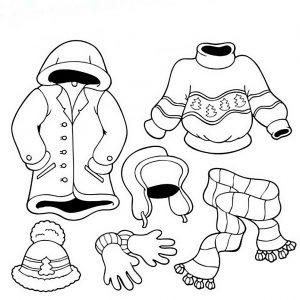 одежда для детей картинки раскраски крупные (38)