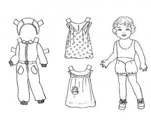 одежда для детей картинки раскраски крупные (39)