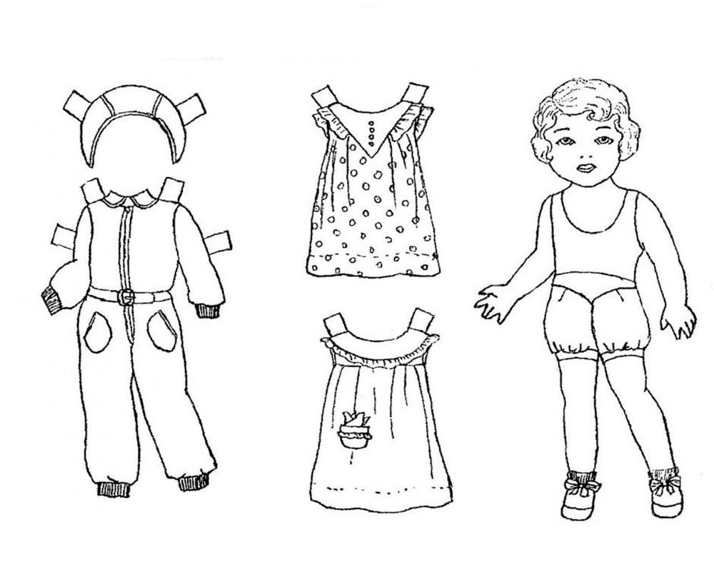 одежда для детей картинки раскраски крупные 39 рисовака