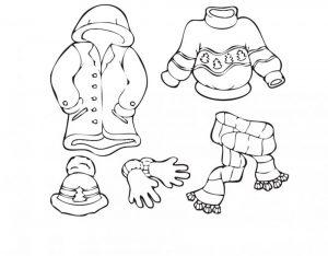 одежда для детей картинки раскраски крупные (42)