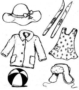 одежда для детей картинки раскраски крупные (43)