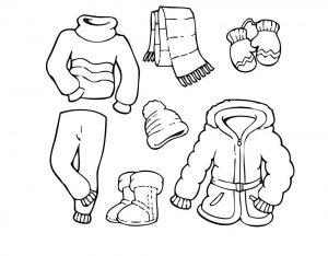 одежда для детей картинки раскраски крупные (46)