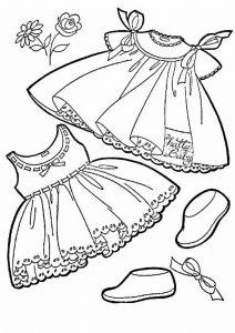 одежда для детей картинки раскраски крупные (51)
