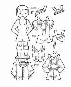 одежда для детей картинки раскраски крупные (52)