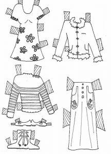 одежда для детей картинки раскраски крупные (53)