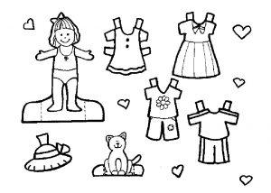 одежда для детей картинки раскраски крупные (7)