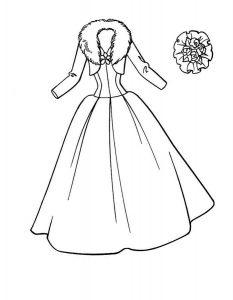 платья картинки раскраски крупные (1)