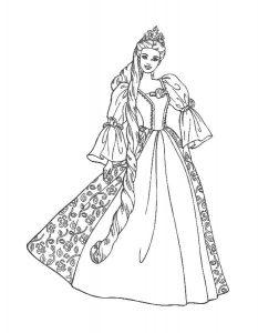 платья картинки раскраски крупные (10)