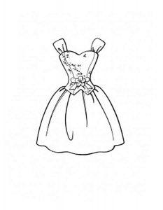 платья картинки раскраски крупные (11)
