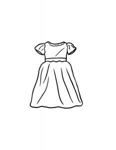 платья картинки раскраски крупные (3)