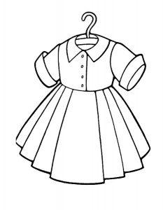 платья картинки раскраски крупные (4)