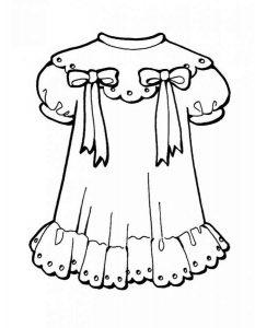 платья картинки раскраски крупные (5)