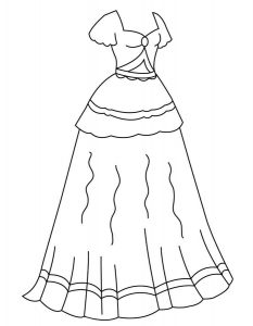 платья картинки раскраски крупные (6)