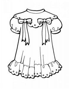 платья картинки раскраски крупные (8)