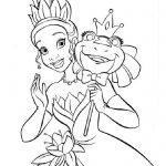 принцессы диснея картинки раскраски крупные (11)