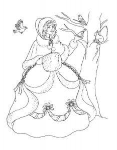 принцессы диснея картинки раскраски крупные (15)