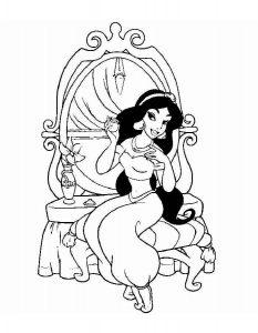 принцессы диснея картинки раскраски крупные (16)