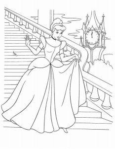 принцессы диснея картинки раскраски крупные (19)