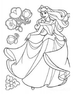 -диснея-картинки-раскраски-крупные-20-233x300 Принцессы Диснея