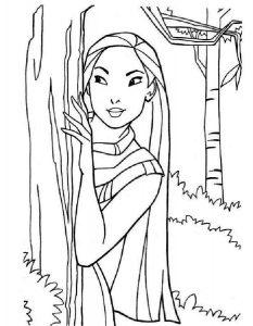 принцессы диснея картинки раскраски крупные (21)