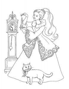 принцессы диснея картинки раскраски крупные (22)