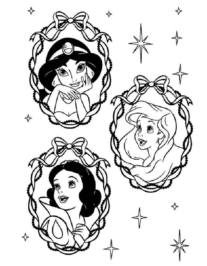принцессы диснея картинки раскраски крупные (24)