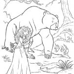 принцессы диснея картинки раскраски крупные (26)