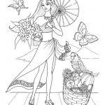 принцессы диснея картинки раскраски крупные (27)
