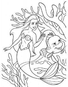 принцессы диснея картинки раскраски крупные (28)