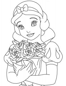 принцессы диснея картинки раскраски крупные (29)