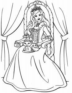 принцессы диснея картинки раскраски крупные (3)