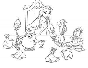 принцессы диснея картинки раскраски крупные (5)