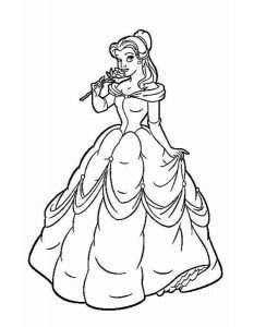 принцессы диснея картинки раскраски крупные (6)