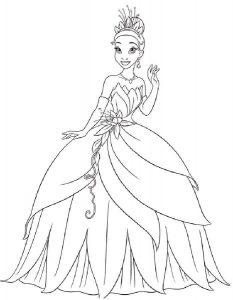 принцессы диснея картинки раскраски крупные (7)