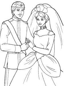 принц и принцесса картинки раскраски крупные (10)