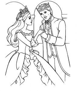 принц и принцесса картинки раскраски крупные (14)