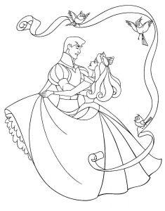 принц и принцесса картинки раскраски крупные (16)