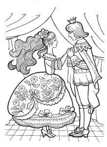принц и принцесса картинки раскраски крупные (17)