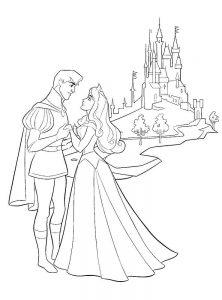 принц и принцесса картинки раскраски крупные (18)