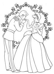 принц и принцесса картинки раскраски крупные (19)